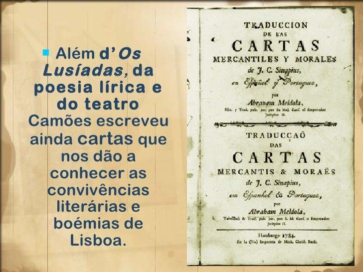 Luis de Camoes caracteristicas literarias