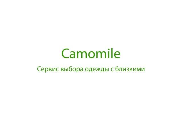CamomileApp Presenatation 03.07.2013