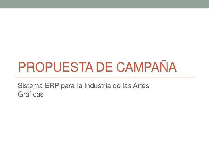 Diseño de Campaña ERP