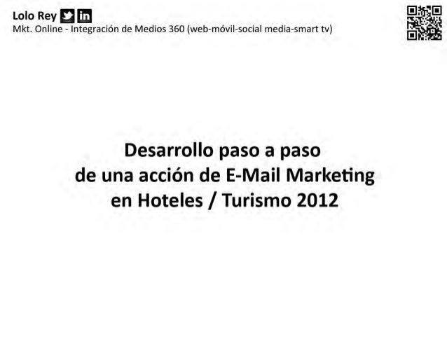 Campaña email mkt para hoteles 2012  lolo rey