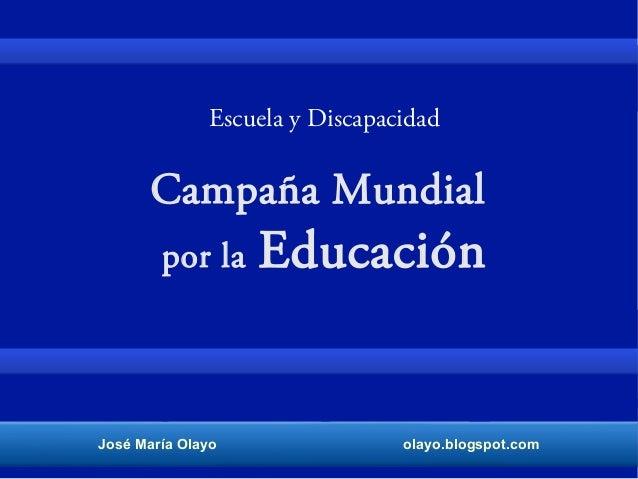 Campaña mundial por la educación.