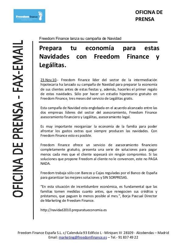 OFICINA DE PRENSA Freedom Finance lanza su campaña de Navidad Prepara tu economía para estas Navidades con Freedom Finance...