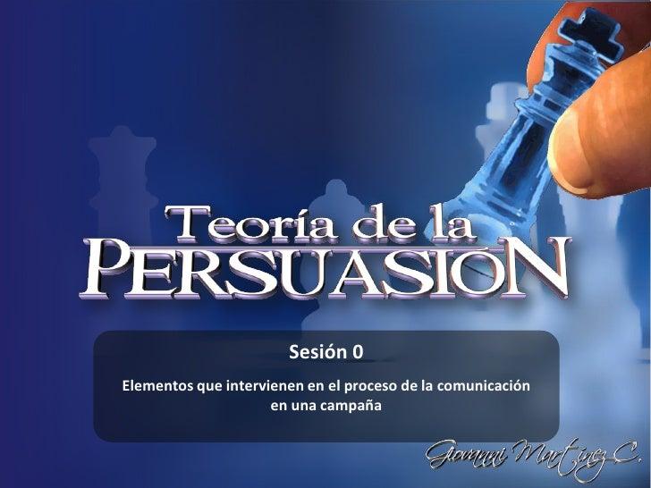 Teoria de la persuasión
