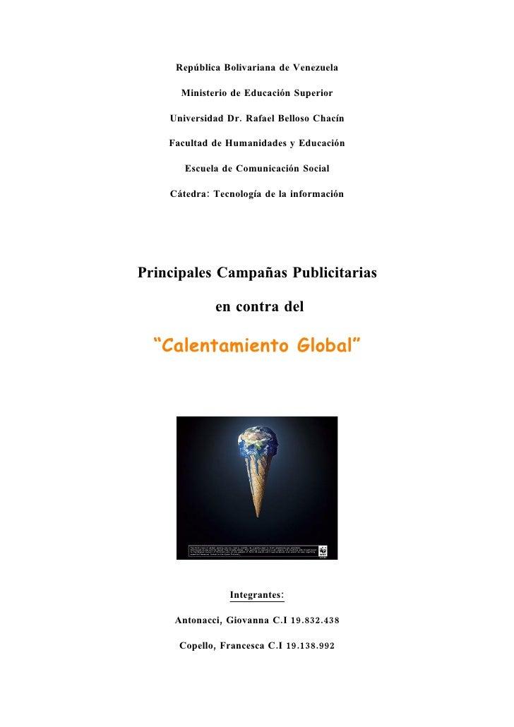 República Bolivariana de Venezuela        Ministerio de Educación Superior      Universidad Dr. Rafael Belloso Chacín     ...