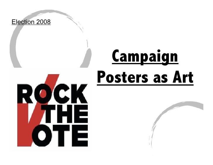 Campaign art for Minimal art slideshare
