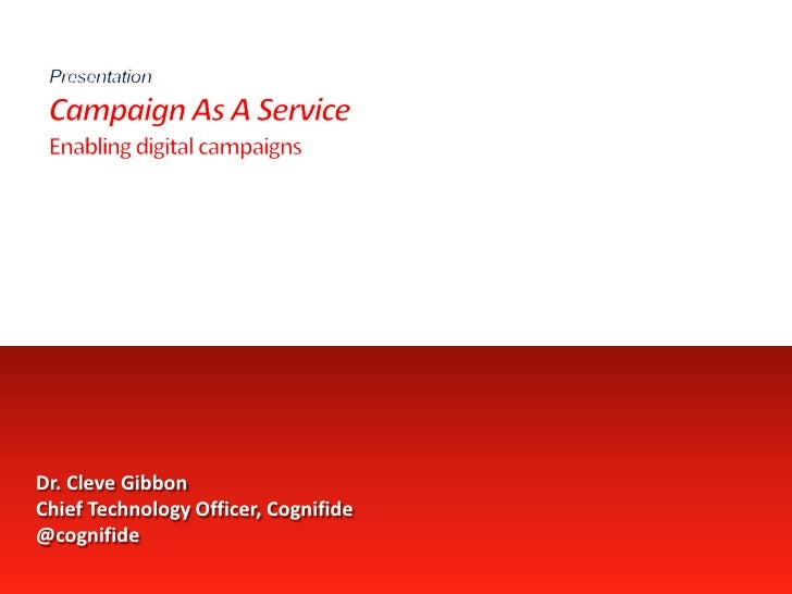 Campaign As A Service