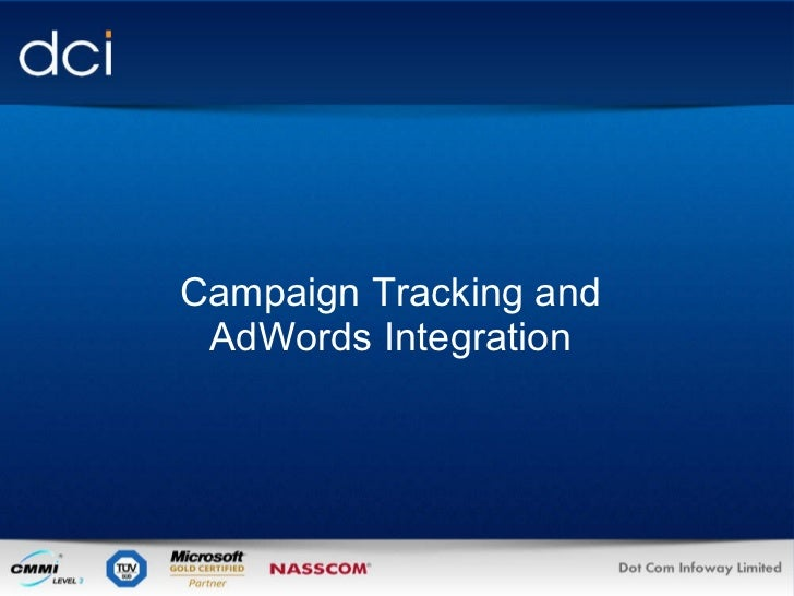 Campaign Tracking and AdWords Integration