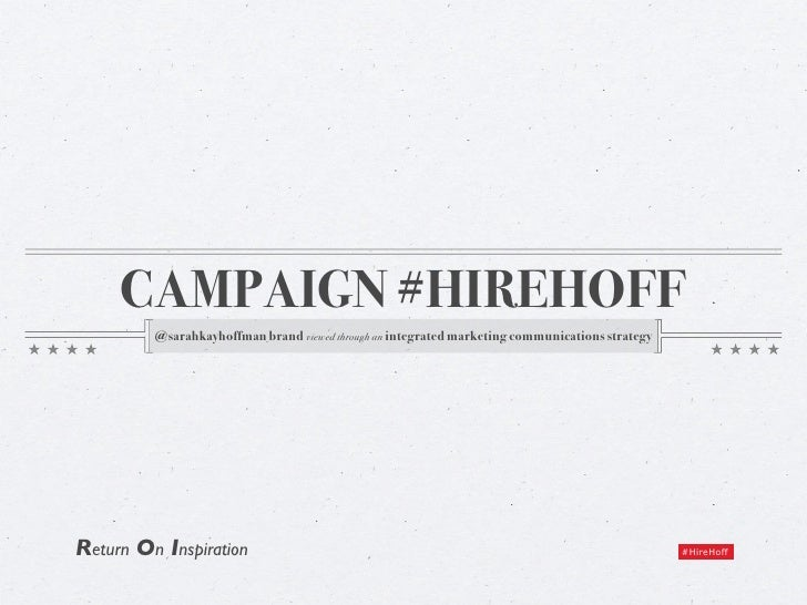 Campaign #HireHoff