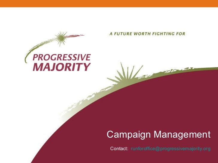 Campaign Management Contact:  [email_address]