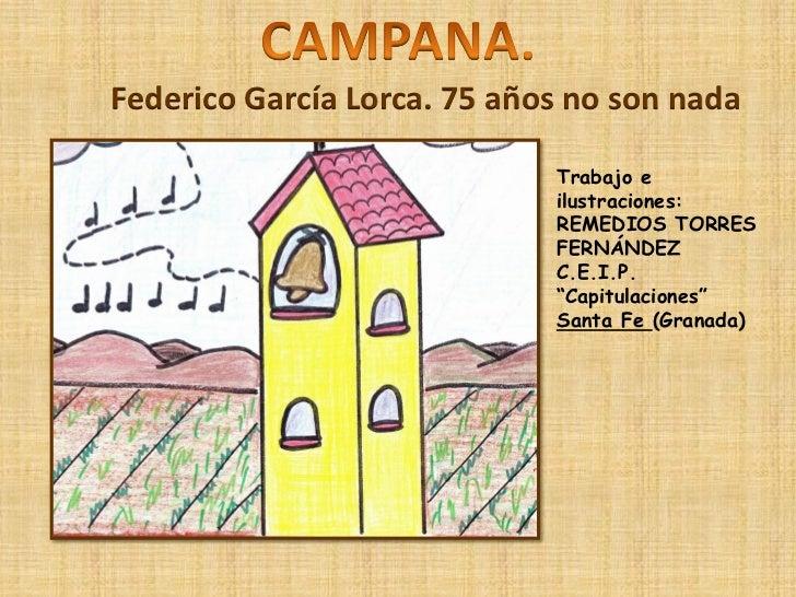 Federico García Lorca. 75 años no son nada                             Trabajo e                             ilustraciones...