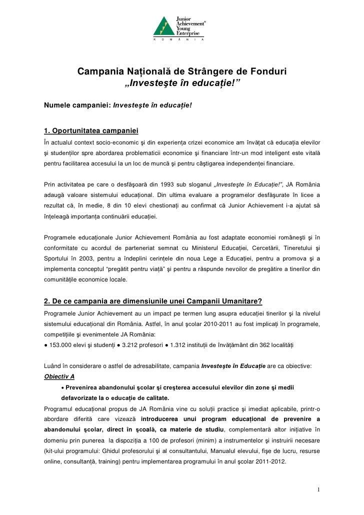Campania investeste in educatie 2011