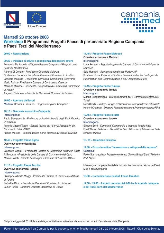 CampaniaMed (Regione Campania) _ Forum internazionale 'La Campania per la cooperazione nel Mediterraneo' I edizione (Napol...