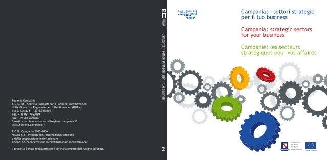 Campania: i settori strategiciper il tuo businessCampania: strategic sectors foryour businessCampanie: les secteursstratég...