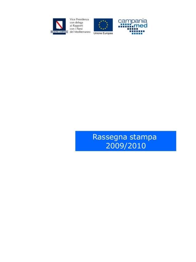 CampaniaMed (Regione Campania)_Rassegna stampa 2009-2010
