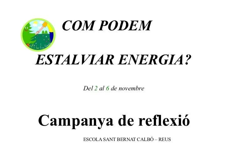 Campanya d'estalvi d'energia