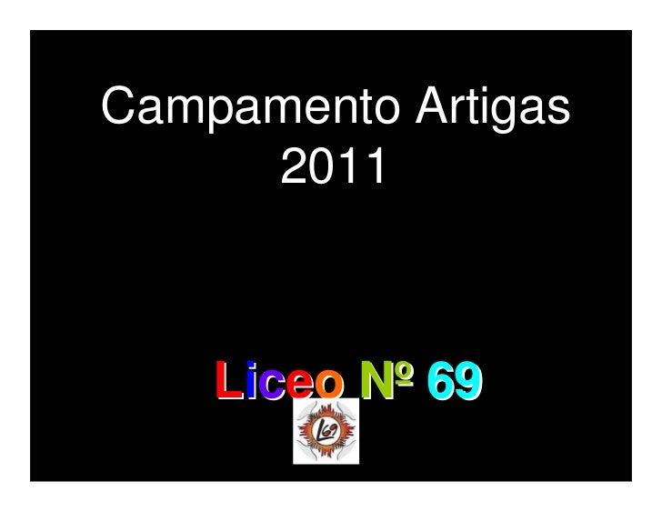 Campamento Artigas     2011    Liceo Nº 69