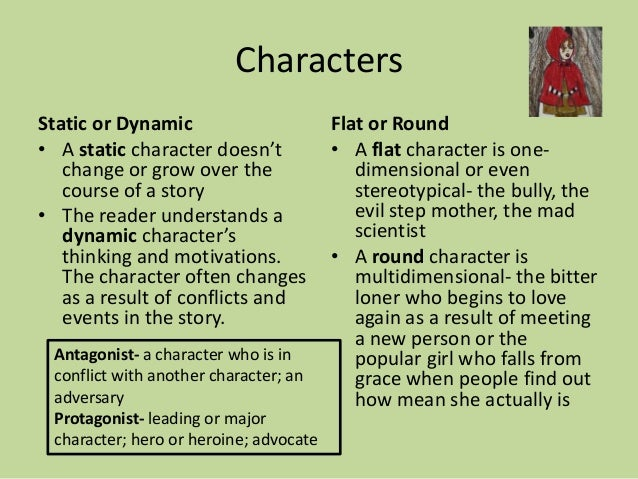 flat round static dynamic characters