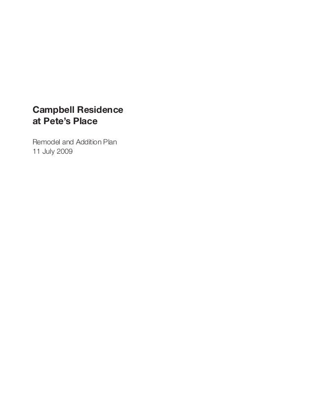 Campbell Residence Plan