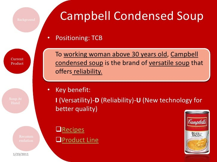 case campbell s iq meals Case study case study: campbell soup company register today and get free access to tec's independent research on enterprise software sign up sign up about.