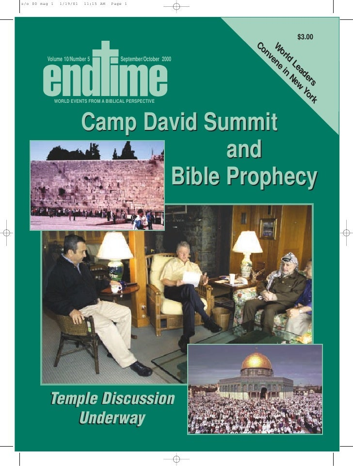 Camp david summit and bible prophecy   sept-oct 2000