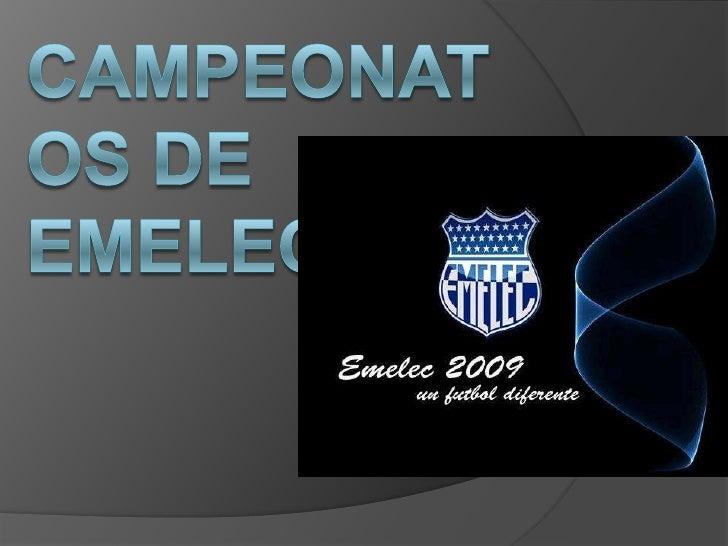 Campeonatos deemelec<br />