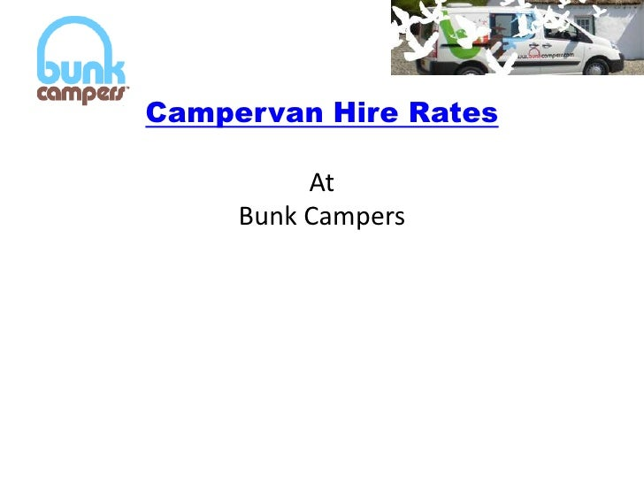 Campervan Hire RatesAt Bunk Campers<br />