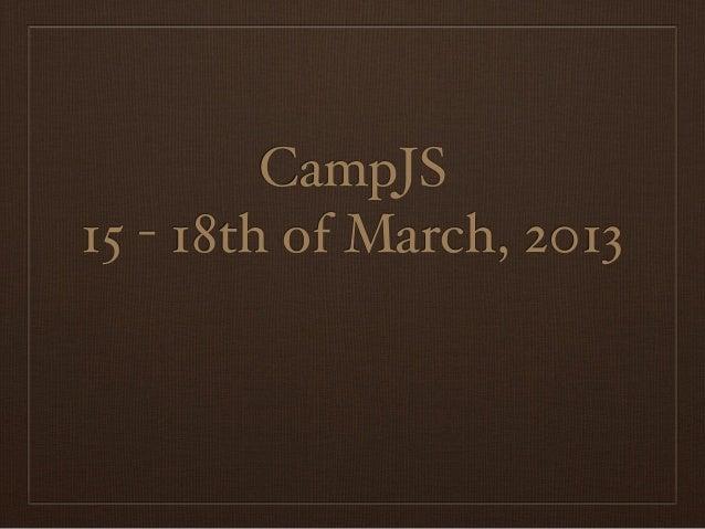 CampJS #1