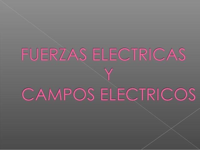Electricidad. Electrostática El campo eléctrico Carga eléctrica Conductores y aislantes Ley de Coulomb El campo eléctrico....