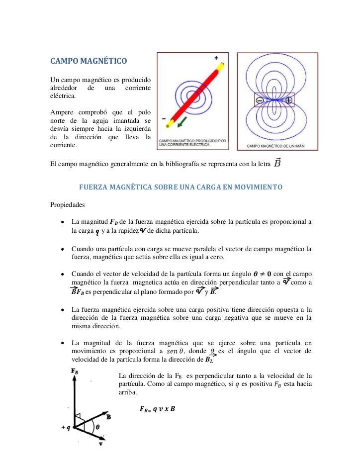 CAMPO MAGNÉTICOUn campo magnético es producidoalrededor de una corrienteeléctrica.Ampere comprobó que el polonorte de la a...