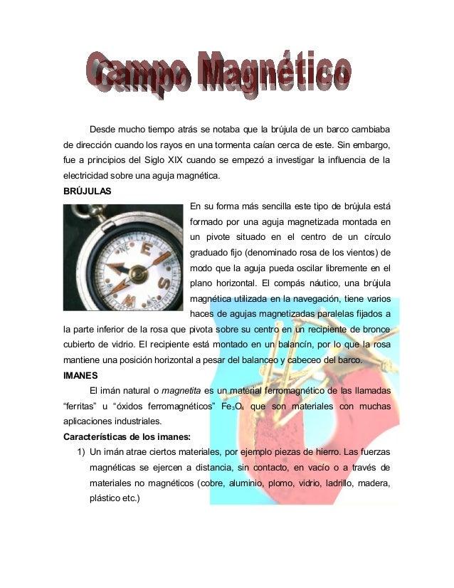 Campo magnético y corriente eléctrica