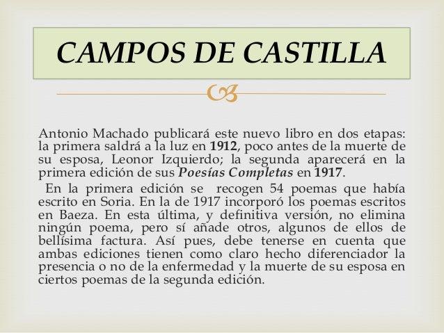 Campos Castilla Antonio Machado Campos de Castilla antonio