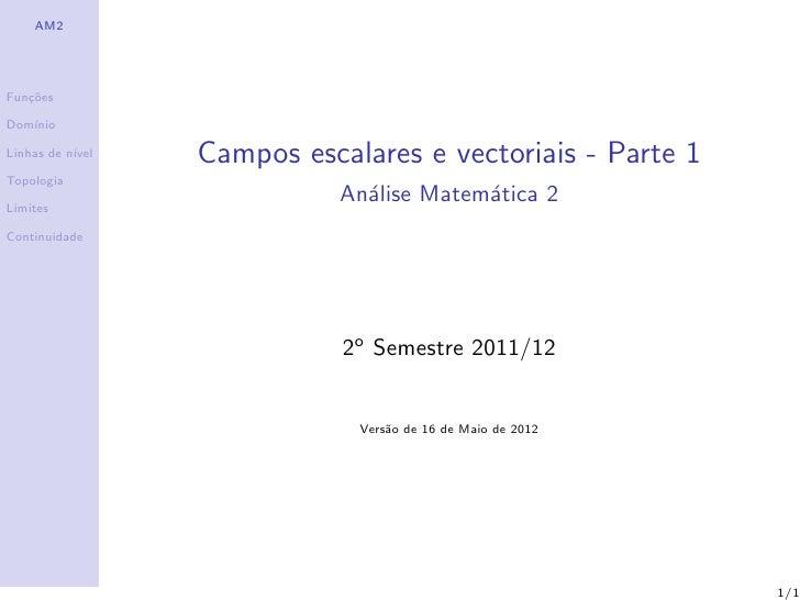 02 Campos Escalares e Vectoriais