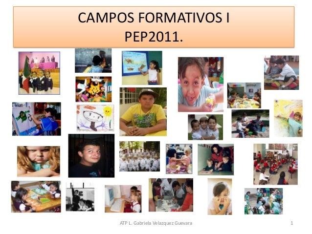 ATP L. Gabriela Velazquez Guevara 1 CAMPOS FORMATIVOS I PEP2011.