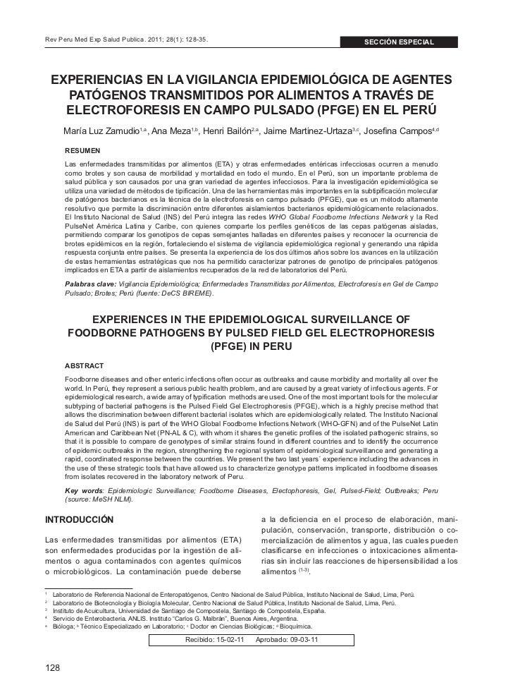 Rev Peru Med Exp Salud Publica. 2011; 28(1): 128-35.                                                              sección ...