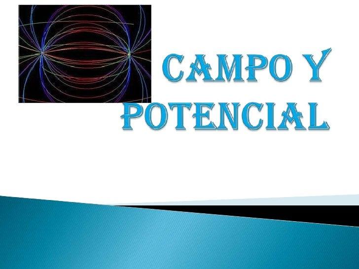 Campo y potencial