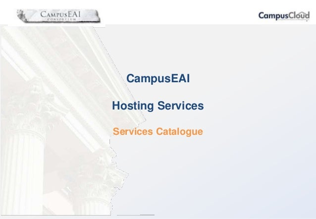CampusEAI Hosting Services Services Catalogue
