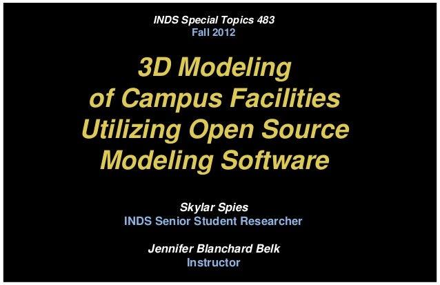 Winthrop Campus 3D modeling