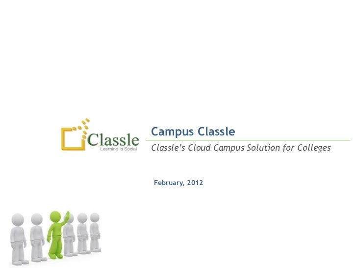 Campus ClassleClassle's Cloud Campus Solution for CollegesFebruary, 2012