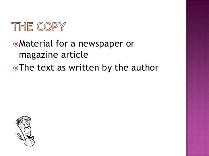Writing for newspapers and magazines