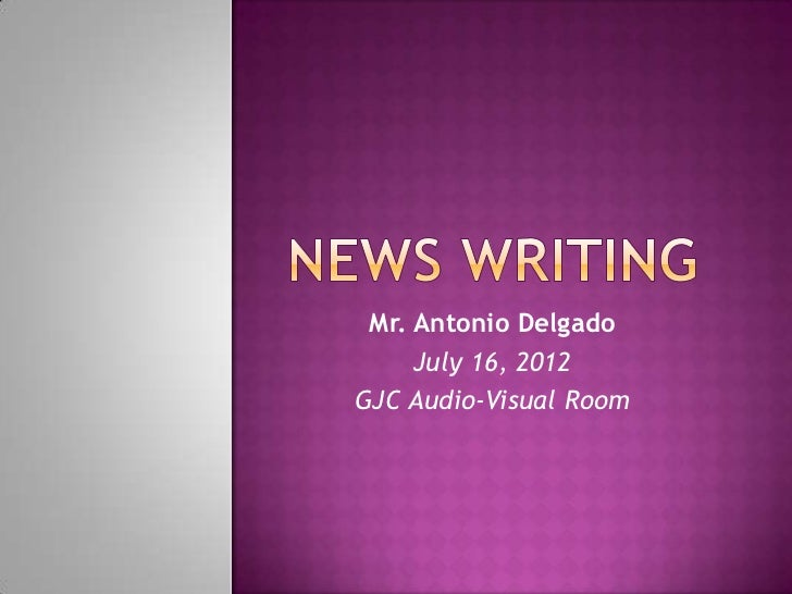 Mr. Antonio Delgado     July 16, 2012GJC Audio-Visual Room