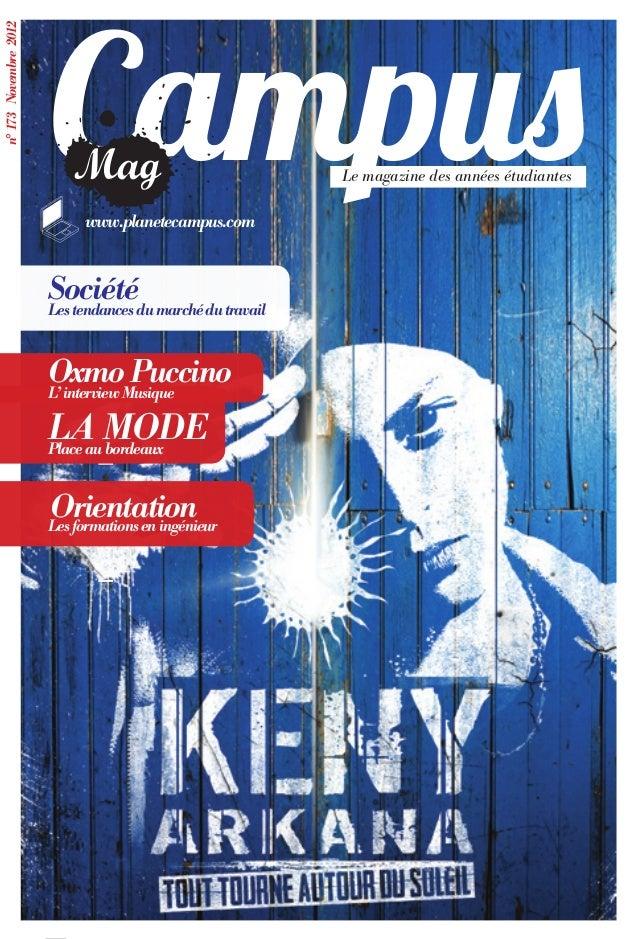 Campusn° 173 Novembre 2012                                                     Le magazine des années étudiantes          ...