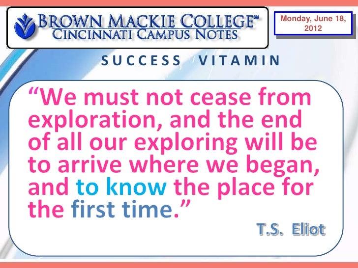 Monday, June18,                     Monday, June 18,                         2012                         2012SUCCESS   VI...