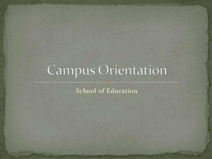 Campus orientation