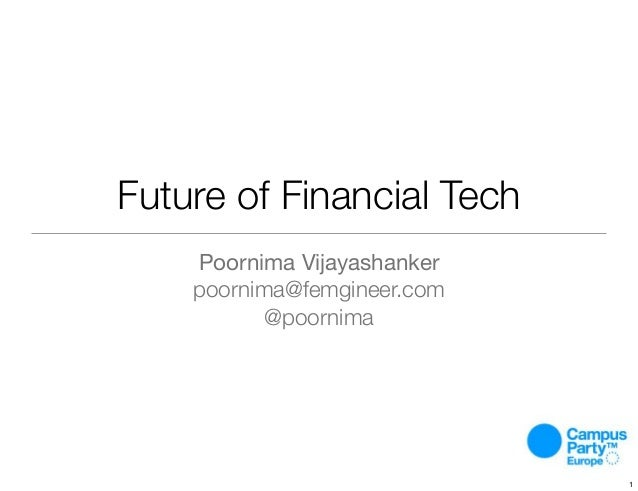 Future of Financial Tech