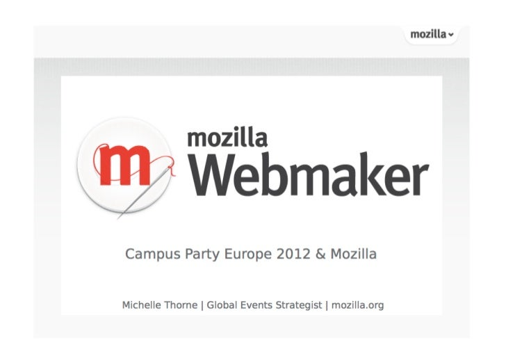 Campus Party Europe and Mozilla