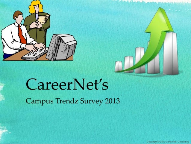CareerNet's Campus Trendz Survey 2013 Copyright © 2013 CareerNet Consulting
