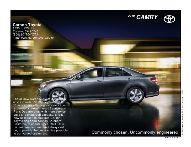 2010 Toyota Camry Hybrid - Carson Toyota Los Angeles, CA