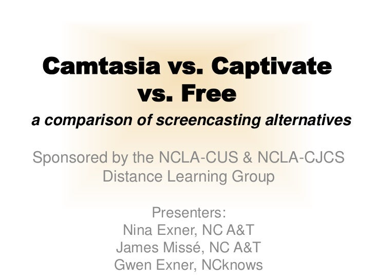 Camtasia versus Captivate versus Free: Comparing Screencasting Software for Libraries