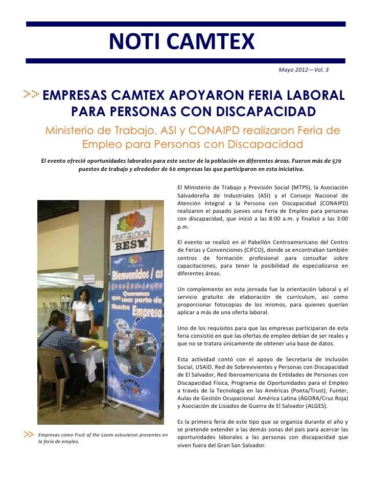 Camtex  breve informativo 2 - may 2012