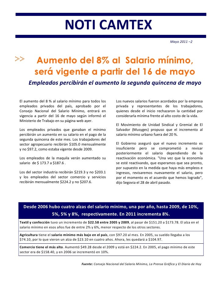 NOTI CAMTEX                                                                                                  Mayo 2011 –2 ...